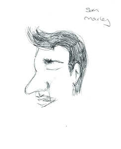 H Anthony with big nose, by Sam Marley