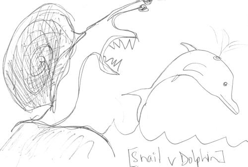 Snail vs Dolphin