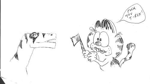 T-Rex vs Garfield