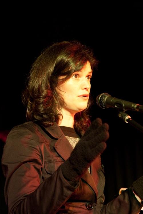 Controversial poet Felicity Moch regales the crowd